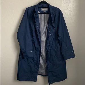 Eddie Bauer blue rain coat